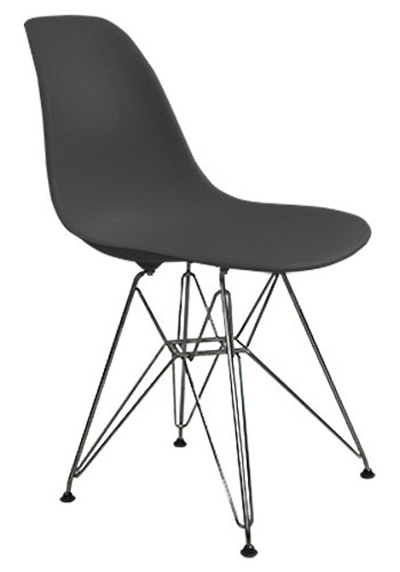 eames molded plastic side chairs