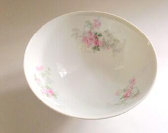 Limoges France Bowl, Wm Guerin Bowl, French Limoges Bowl, Pink Roses Bowl,Tea Sets, Guerin Limoges Bowl, Antique Limoges Porcelain