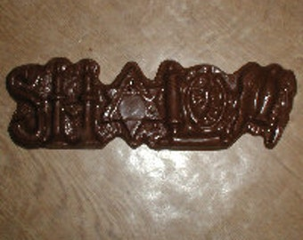 Shalom Bar Chocolate Mold