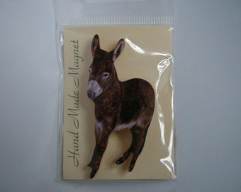 Small Brown Donkey Fridge Magnet
