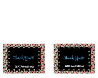 Trampoline/Jumping Birthday Thank You Card