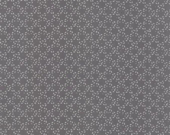 Modern BG Ink Stitched Circles Graphite - 1/2yd