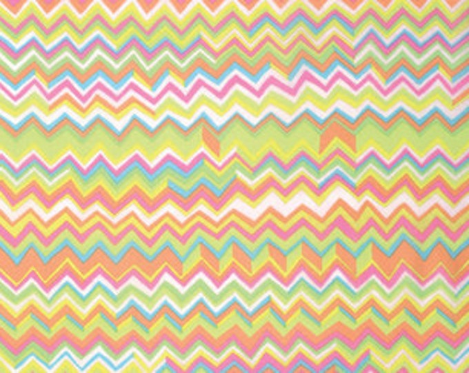 Kaffe Fassett Collective Zig Zag Yellow - 1/2yd