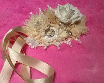 Vintage flower sash