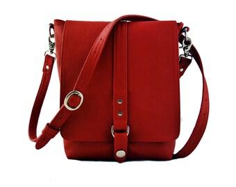 Red Leather Merritt Bag
