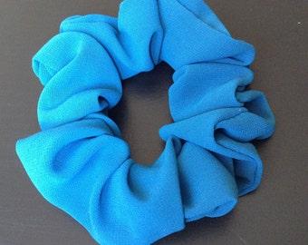 blue georgette hair scrunchy/ scrunchies/ women/ ponytail holder