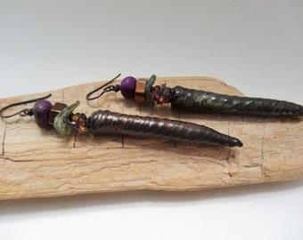 Spike it earrings - Artisan, Dangle, Bohemian, Long, Statement, Sparkle