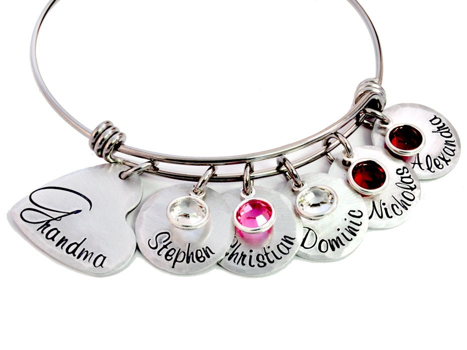 personalized expandable bangle grandmother s