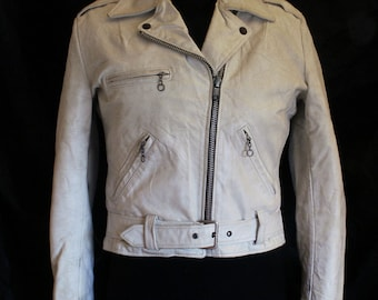 1960s Excelled  white fringed motorcycle jacket
