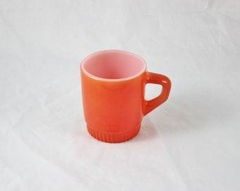 Fire King Orange Cup