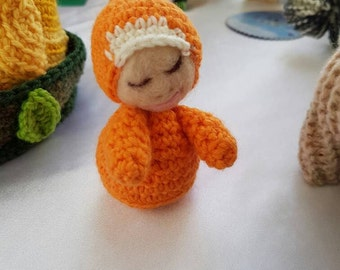 Small Crocheted & Needle Felted Dolls