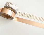 Rose Gold Foil Washi Tape Combo