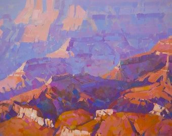Grand Canyon South West art Landscape oil Painting One of a kind Handmade Artwork Impressionism Signed with Certificate of Authenticity