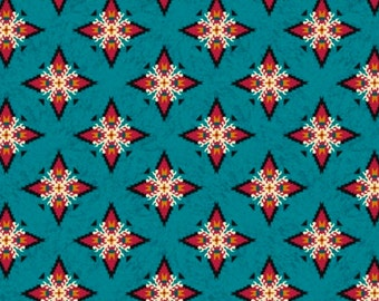 Laredo Foulard Teal Fabric From Quilting Treasures By the Yard