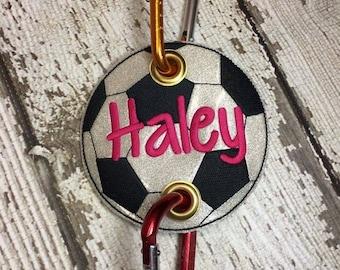 Soccer Bag Holder DESIGN - In The Hoop - DIGITAL Embroidery Design