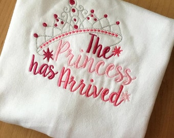 The Princess Has Arrived - Tiara - 2 Sizes Included - Embroidery Design -   DIGITAL Embroidery DESIGN