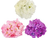 20x Artificial Hydrangea Flowers Home Wedding Silk Flower Head Decor