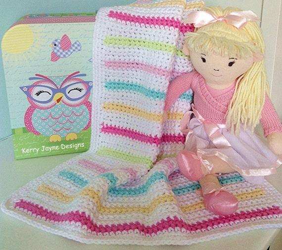 Easy Beginner Crochet Baby Blanket Tutorial : BEGINNERS BABY BLANKET Pattern Easy Crochet by ...