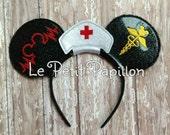 Nurse/RN Mickey Mouse inspired ears headband