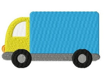 Embroidery Design Truck 4'x4' - DIGITAL DOWNLOAD PRODUCT