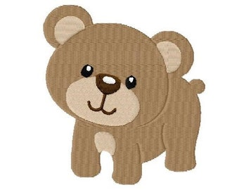 Embroidery Design Bear 4'x4' - DIGITAL DOWNLOAD PRODUCT