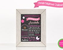 Baby Shower Chalkboard, Baby Shower Sign, Girl Baby Shower, Baby Shower Party Deorations, Baby Shower Keepsake