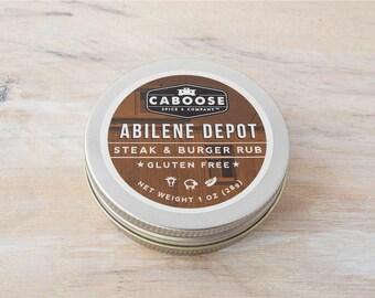 Abilene Depot Steak Seasoning & Burger Rub - Small Tin (1 oz)
