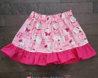 Disney Marie Pink Skirt and Mini bow