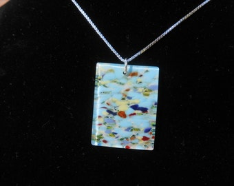 glass mosaic necklace pendant