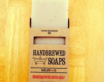Beer Soap - French Ale Beer Soap,  Lavender Soap, Gift for Her,