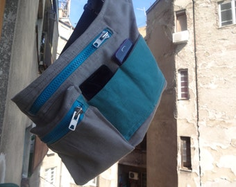 Hip Bag Canvas Travel Belt Pouch Festival Bag Fanny Pack Baby-wearing Bag
