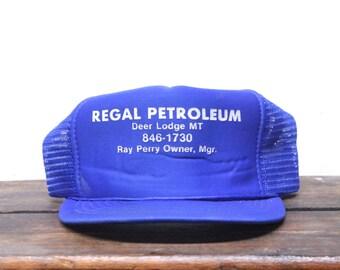Vintage Regal Petroleum Gas Station Oil Deer Lodge Montana  Trucker Hat Snapback Baseball Cap