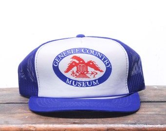 Vintage Genessee Country Museum Eagle Trucker Hat Snapback Baseball Cap