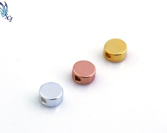 Disc Slide Connectors, Sterling Silver, Gold Plated, Rose Gold Plated, Link Connector, Necklace Pendant, Two Hole Sliders, Spacers, CM149LC