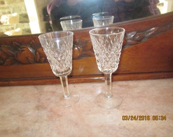 2 sherry glasses from Waterford Alana pattern