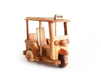 Wooden Toy Tuk Tuk Thailand Car 01 in Handmade