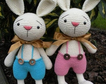 Crochet Pattern - Elroy and Melvin the Bunnies