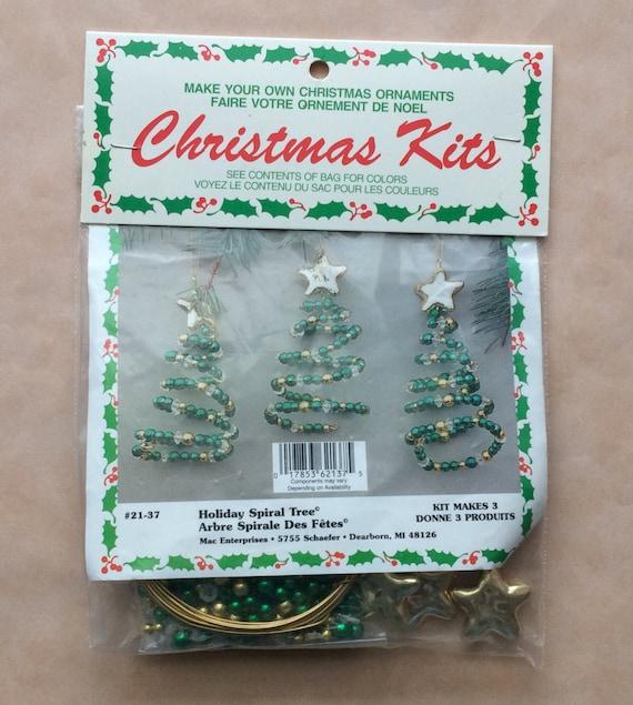 Christmas Ornament Kit Holiday Tree Ornament Kit Beaded