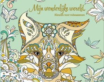 Coloring book for adults -Mijn wonderlijke wereld (My wonderful world) -Part 2- 46 hand-drawn pages- Masja
