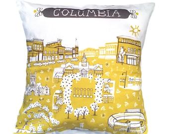 Columbia MO Pillow-Home Decor-Gold-Black-Grey-MU Tigers-16 x 16