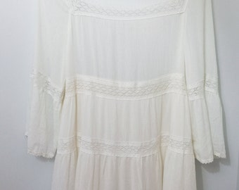 Cream Flowy Dress