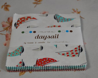 SALE - 15% Off Use Code JUNE17  - Daysail Charm Pack by bonnie and camille for moda