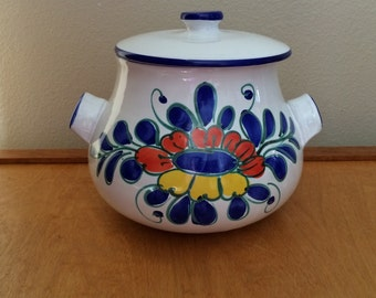 Hand Painted Casserole Dish - Stoneware from Italy
