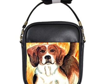 Genuine Leather Beagle Sling Purse!