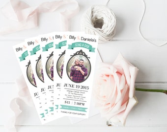 Stag and Doe Ticket, Buck and Doe Ticket, Jack and Jill Ticket, Custom, Photo