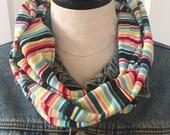 Striped Scarf  Multicolor...