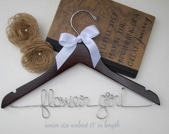 SALE SALE Flower Girl Hanger, Kid's Hanger, Childrens Hanger, Custom Hanger, Baby Shower Gift, with Ribbon Color of your choice