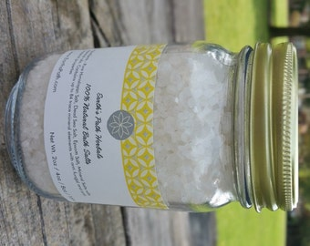 Dead Sea Salt. Spearmint. Dead Sea Salts Made with Essential Oils. 8oz or 16oz jar of Bath Salts