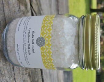 Spring Cotton Dead Sea Salt. Dead Sea Salts Made with Essential Oils. 8oz or 16oz jar of Bath Salts