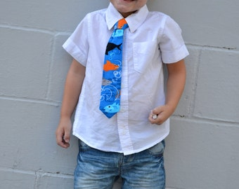 Little Boy's Shark Tie